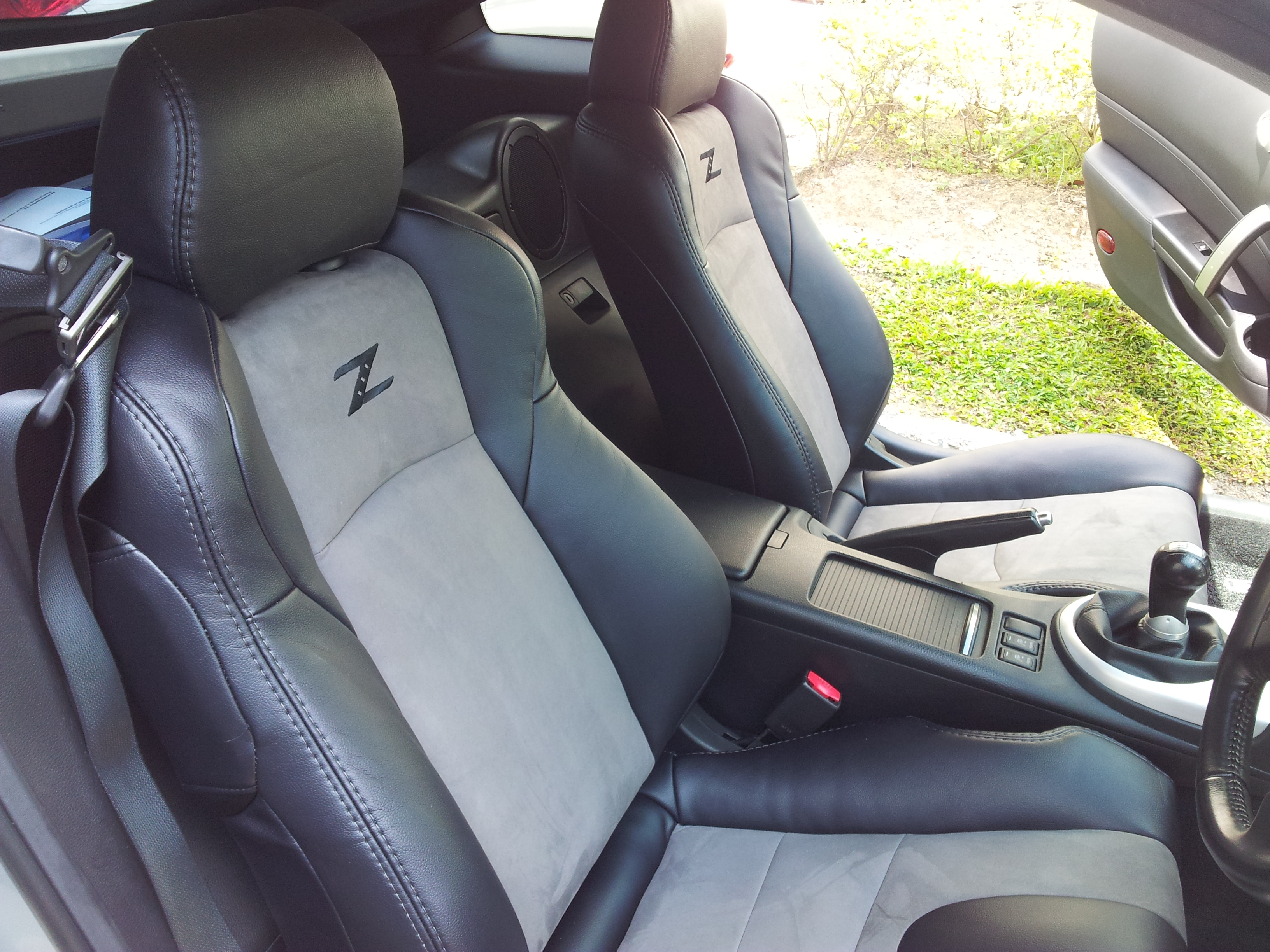 02 08 Nissan 350z Genuine Leather Seat Covers Custom