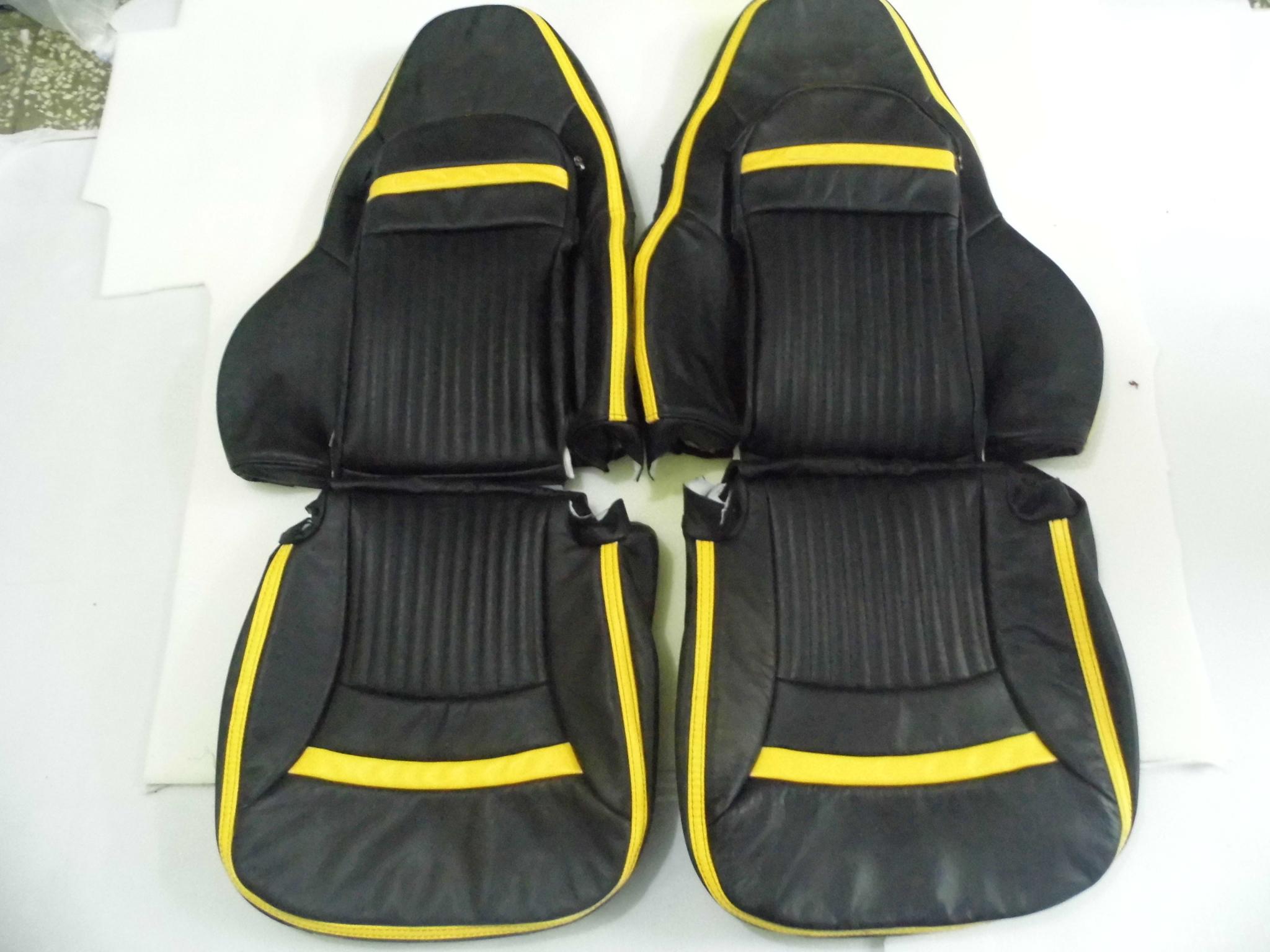 Prime 1997 2004 C5 Corvette Seat Covers Black Yellow Strip Lamtechconsult Wood Chair Design Ideas Lamtechconsultcom