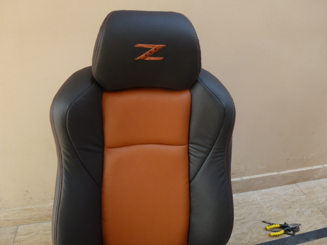 2002 08 Nissan 350z Seat Covers Black Burnt Orange