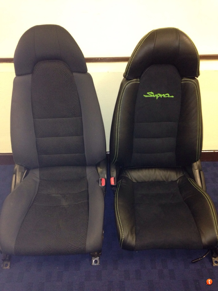 TOYOTA SUPRA MKIV GENUINE LEATHER SEAT COVERS