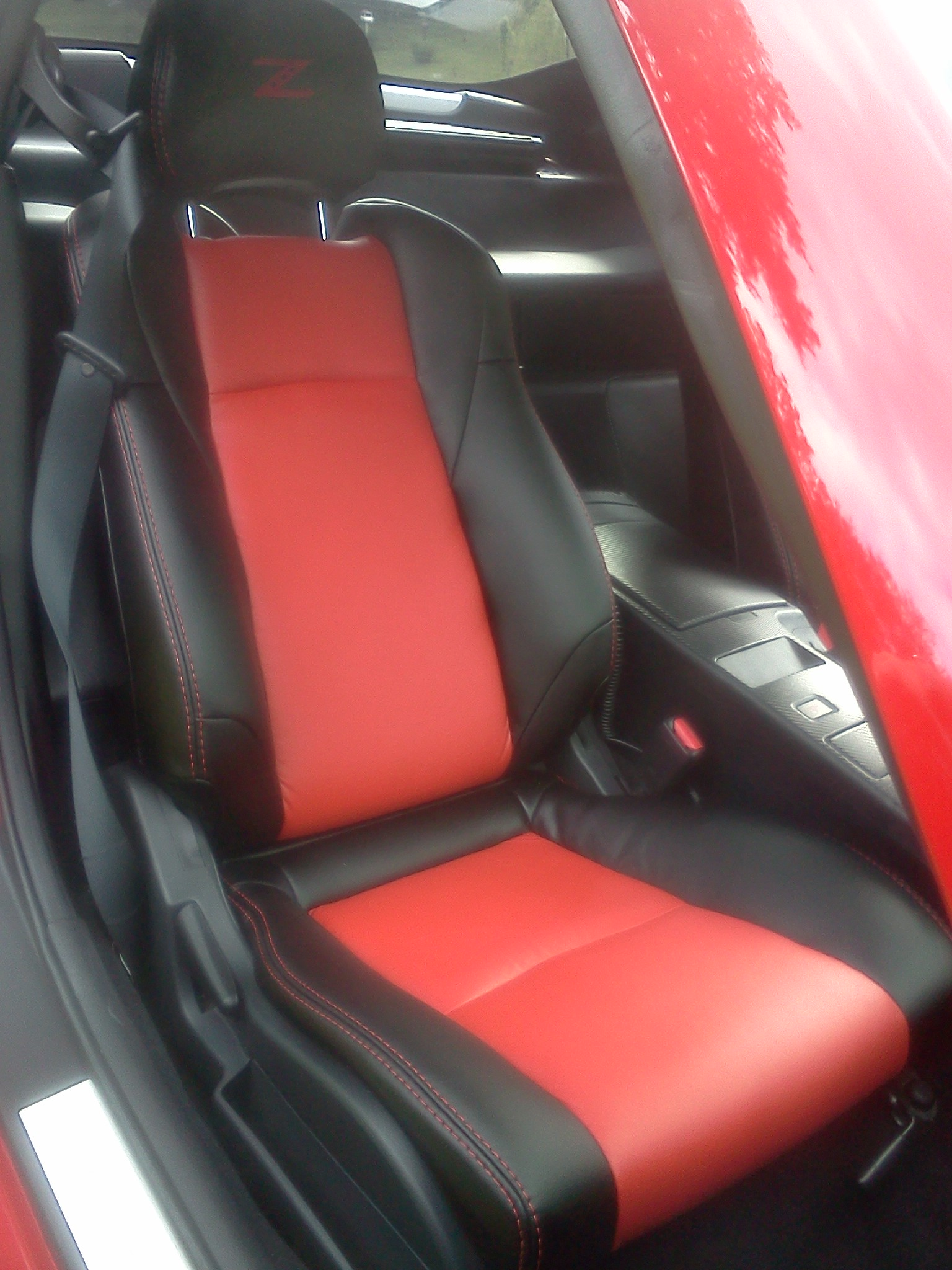 2002 08 Nissan 350z Seat Covers Black Red Interior