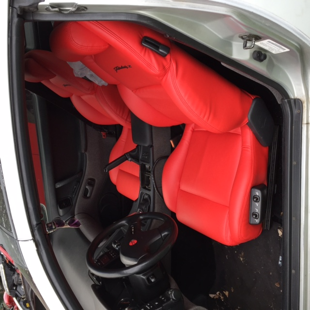 1990 1999 Nissan 300zx Red Leather Seat Covers Front Only