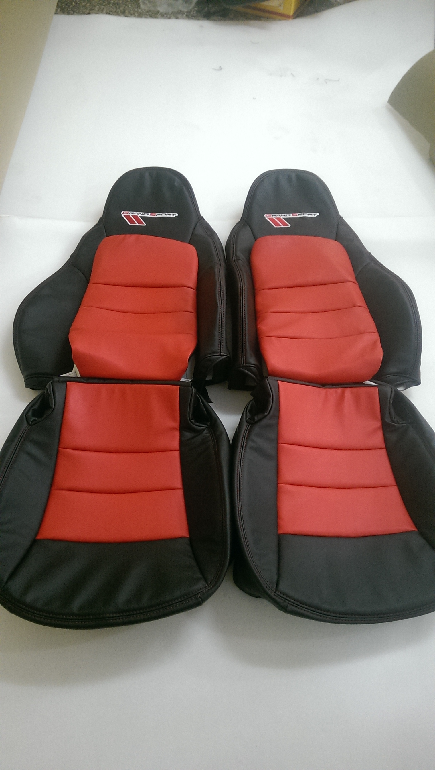 Interior Innovations Custom Synthetic Leather Seat Covers for Sport Seats with Corvette and C5 Logos